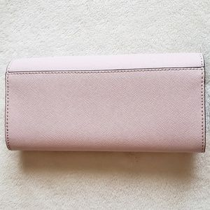 Michael Kors Bags - Michael Kors Pink Leather Turn-Lock Wallet